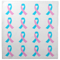 Pink & Blue - Infertility Awareness Ribbon Napkin