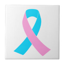 Pink & Blue - Infertility Awareness Ribbon Tile