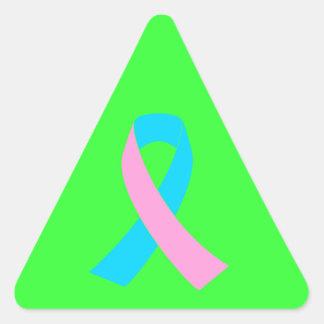Pink & Blue - Infertility Awareness Ribbon Triangle Sticker