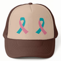 Pink & Blue - Infertility Awareness Ribbon Trucker Hat
