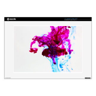 Pink Blue Ink Drop Macro Photography Laptop Decal
