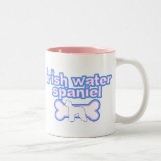 Pink & Blue Irish Water Spaniel Mug