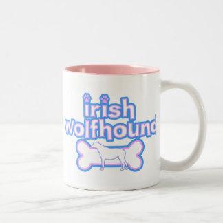 Pink & Blue Irish Wolfhound Mug