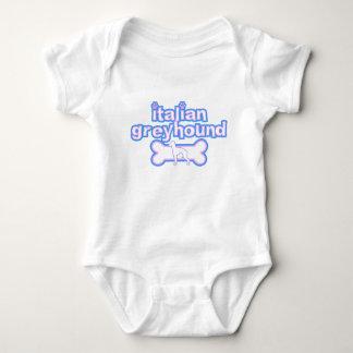 Pink & Blue Italian Greyhound Baby Creeper