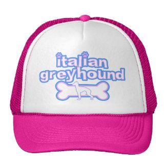 Pink & Blue Italian Greyhound Hat