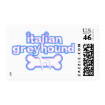 Pink & Blue Italian Greyhound Postage Stamps
