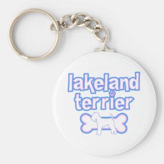 Pink & Blue Lakeland Terrier Keychain