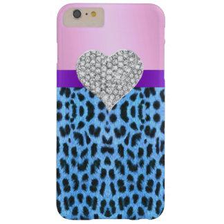 Pink Blue Leopard Print Heart iPhone 6 Case