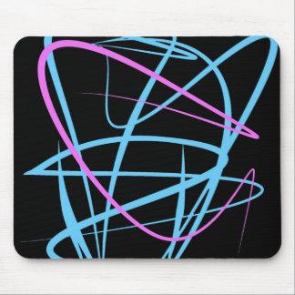 Pink Blue Lines Mousepad