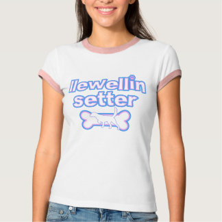 Pink & Blue Llewellin Setter Ladies Ringer TShirt