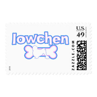 Pink & Blue Lowchen Postage Stamps