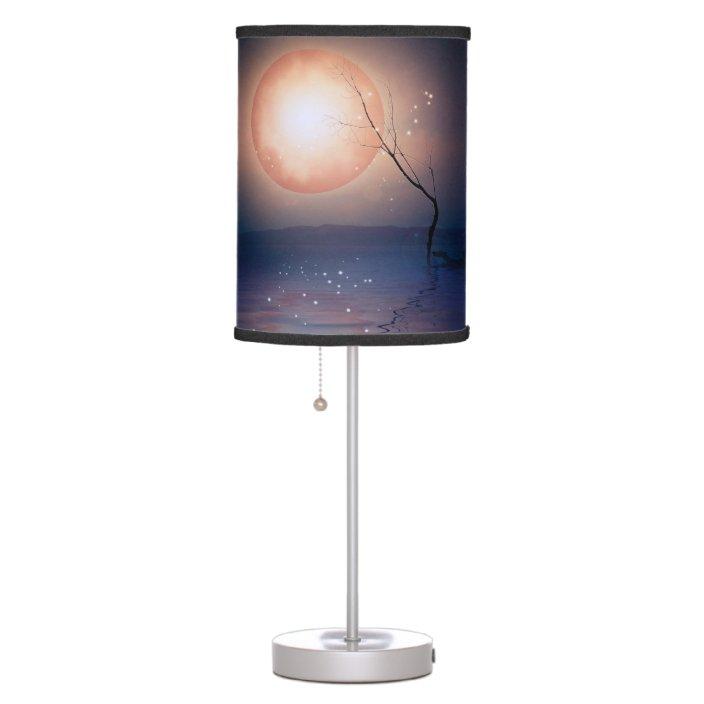 Blue Moon Stars Modern Table Lamp