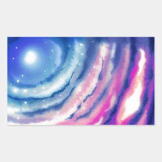 Pink Blue Moon Sunset Rectangular Sticker