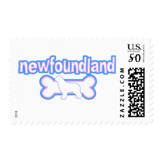 Pink & Blue Newfoundland Postage Stamps
