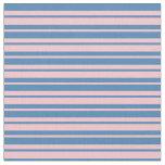 [ Thumbnail: Pink & Blue Pattern of Stripes Fabric ]