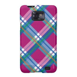 Pink Blue Plaids, Checks, Tartans Samsung Galaxy SII Cases