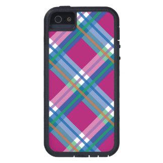 Pink Blue Plaids, Checks, Tartans iPhone 5 Cases