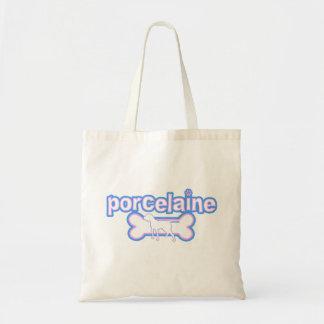 Pink & Blue Porcelaine Tote Bag
