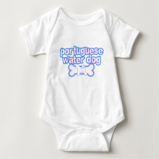 Pink & Blue Portuguese Water Dog Baby Creeper
