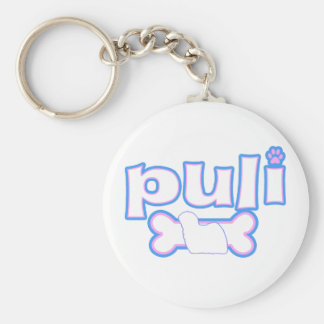 Pink & Blue Puli Keychain