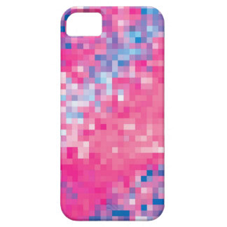 Pink Blue Purple Abstract Mosaic Squares Pattern iPhone SE/5/5s Case