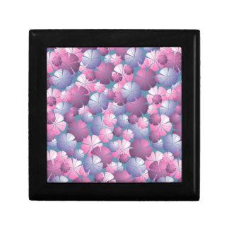 Pink Blue Purple Mauve Floral Tile Gift Box
