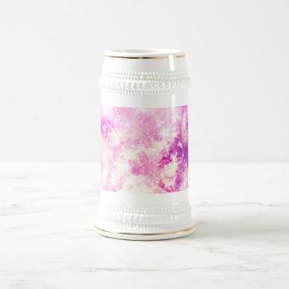 Pink Blue  Purple Nebula Dreamy Clouds Beer Stein