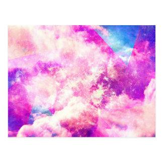 Pink Blue  Purple Nebula Dreamy Clouds Postcard