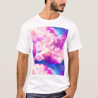 Pink Blue  Purple Nebula Dreamy Clouds T-Shirt