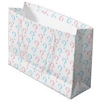 Pink blue question mark gender reveal party bag