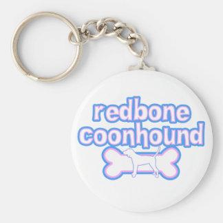 Pink & Blue Redbone Coonhound Keychain