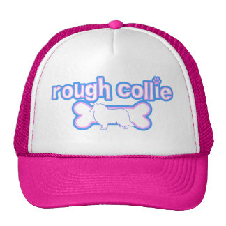 Pink & Blue Rough Collie Trucker Hat