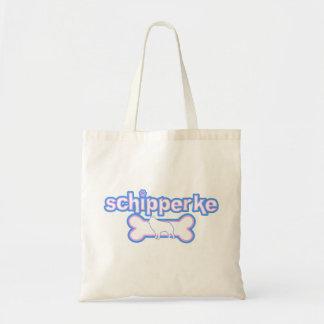 Pink & Blue Schipperke Tote Bag