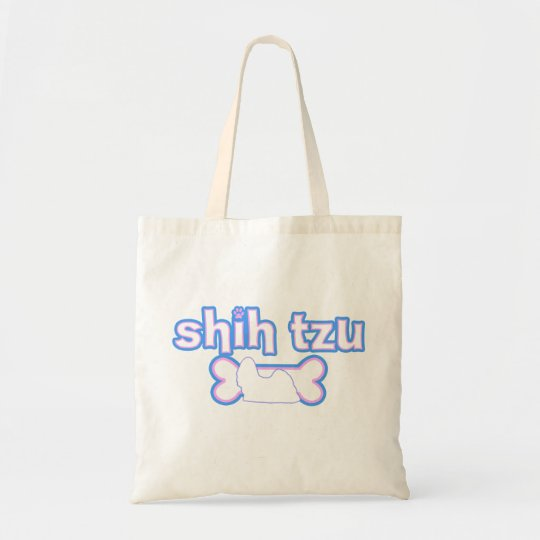 Pink & Blue Shih Tzu Tote Bag