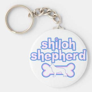 Pink & Blue Shiloh Shepherd Keychain