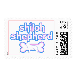 Pink & Blue Shiloh Shepherd Postage Stamps