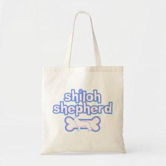 Pink & Blue Shiloh Shepherd Tote Bag