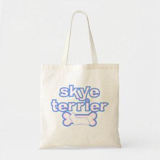 Pink & Blue Skye Terrier Tote Bag
