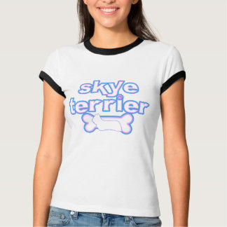 Pink & Blue Skye Terrier Women's Ringer T-Shirt