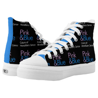 Pink & Blue sneakers! Printed Shoes