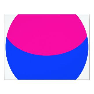 "Pink Blue Sphere 4.25"" X 5.5"" Invitation Card"