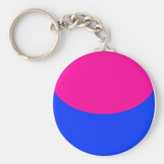 Pink Blue Sphere Keychain