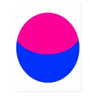 Pink Blue Sphere Postcard