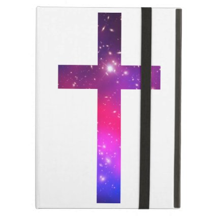 Pink Blue Stars Cross White iPad Air Cases