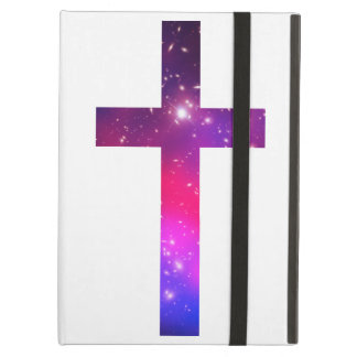 Pink Blue Stars Cross White iPad Air Covers