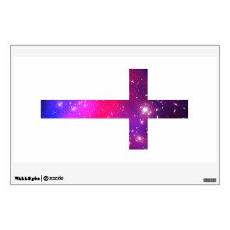 Pink Blue Stars Cross White Wall Decor