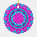 Pink/Blue Stitchery 1 Christmas Tree Ornaments