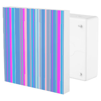 pink blue striped outlet cover