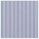 [ Thumbnail: Pink & Blue Striped Pattern Fabric ]