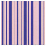 [ Thumbnail: Pink & Blue Stripes/Lines Pattern Fabric ]